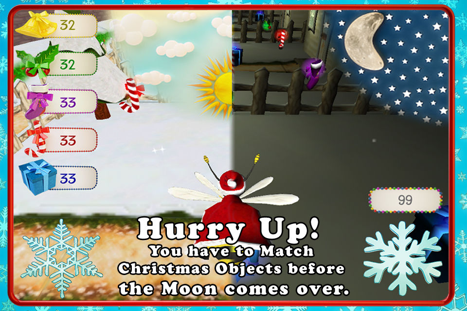 Santa Bee Christmas Mobile Game iOS Android Apple Appstore Google Play Store Screenshots